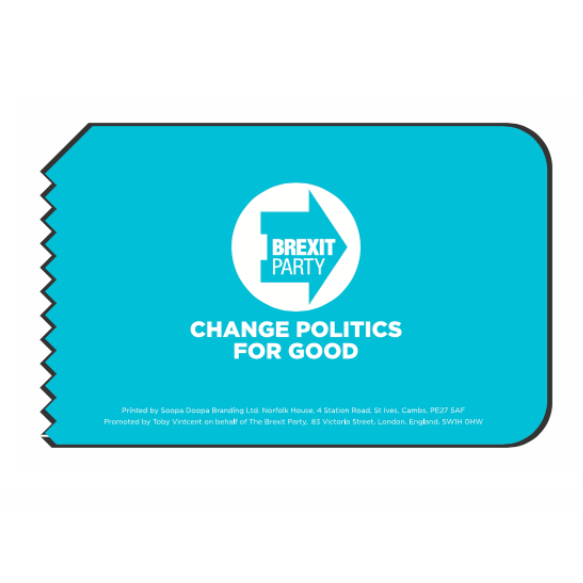OFFICIAL Brexit Party Ice Scraper
