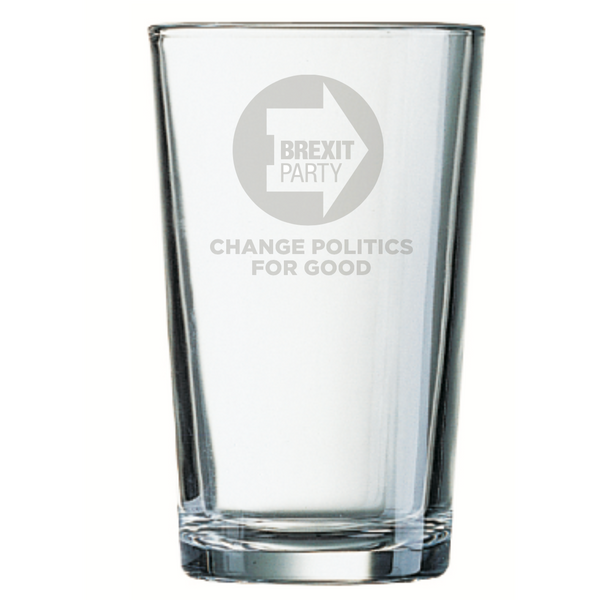 OFFICIAL Brexit Party Pint Glass