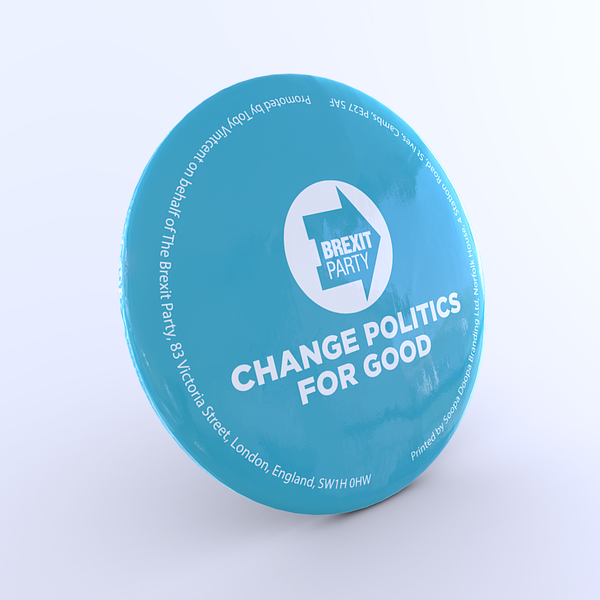 OFFICIAL Brexit Party Button Badge