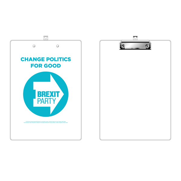 OFFICIAL Brexit Party Clipboard