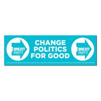 OFFICIAL Brexit Party Window Sticker x 10