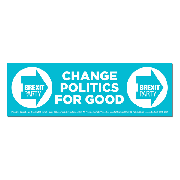 OFFICIAL Brexit Party Window Sticker