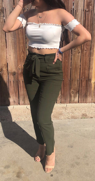 Terry pants (olive)