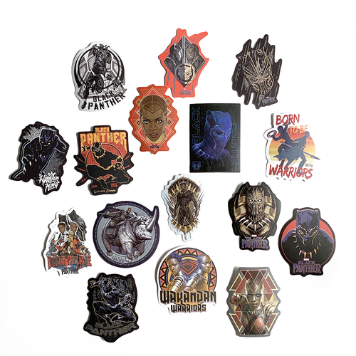 Stickers Marvel Black Panther (lot de 16)