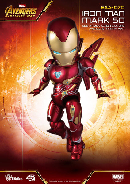 Avengers Infinity War figurine Egg Attack Marvel Iron Man Mark 50