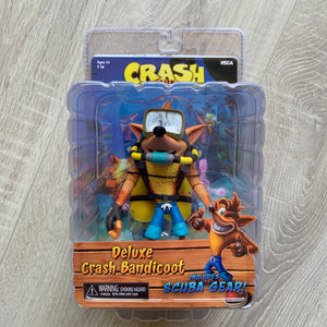 Crash Bandicoot figurine DELUXE scuba Crash Bandicoot