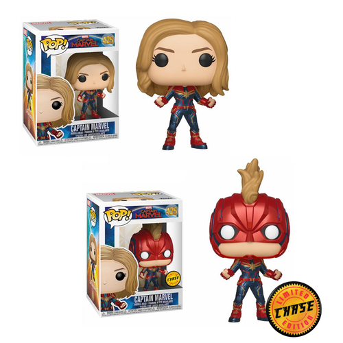 Captain Marvel figurine POP! Marvel #425 Chase (Edition limitée)