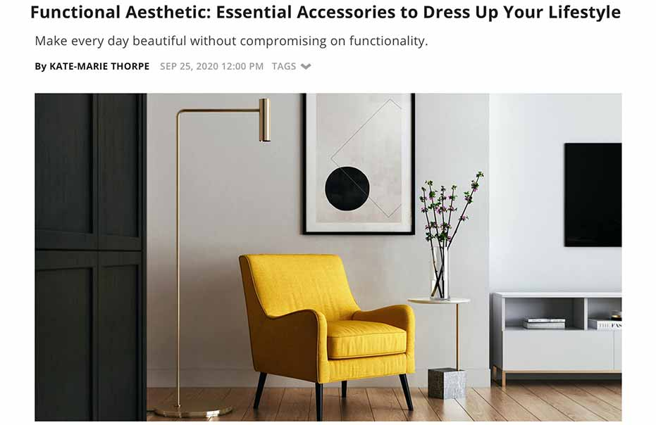 E! Online. Functional Aesthetic: Essential Accessories to Dress Up Your Lifestyle
