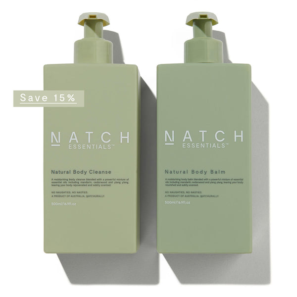 Natch Essentials natural body wash and natural body balm