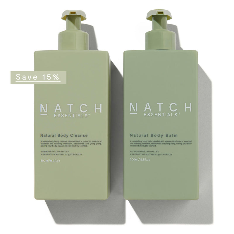 NATURAL BODY CLEANSE & BODY BALM DUO 500ML