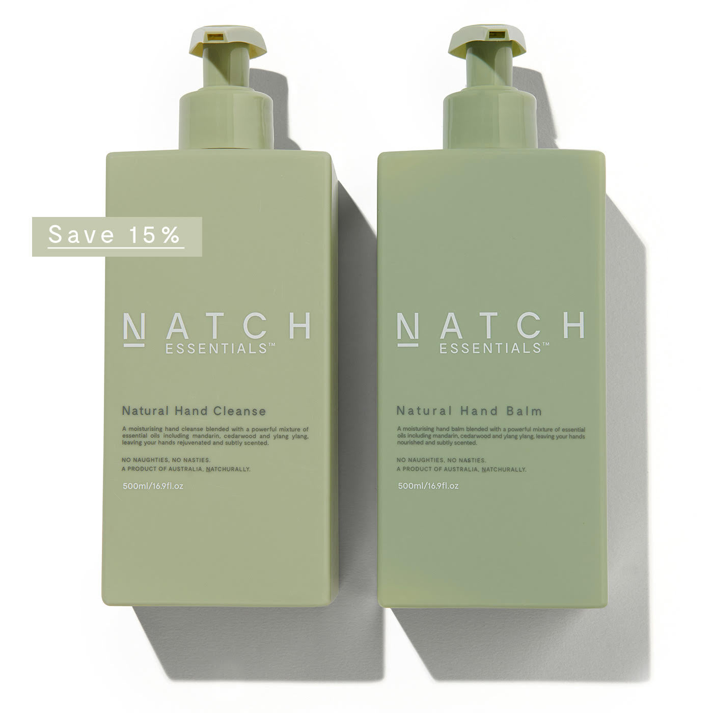 Natch Essentials natural hand wash and natural hand balm