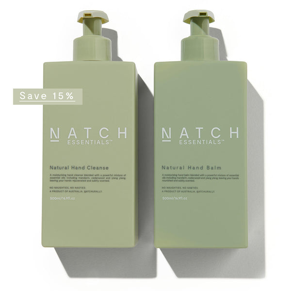 NATURAL HAND CLEANSE & HAND BALM DUO 500ML