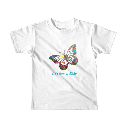 Let's Take a Ride. Girl Short sleeve kids t-shirt