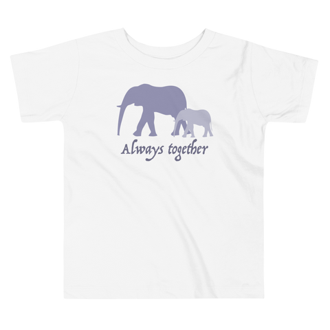 Always Together Violet. Girl & Boy Toddler Short Sleeve Tee. From 2 to 5 years.