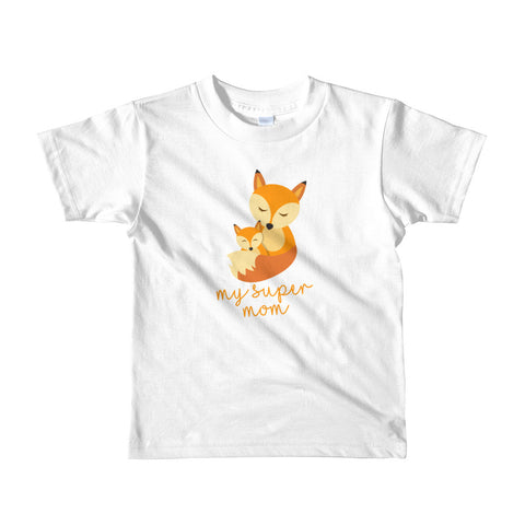 My Super Mom Foxie. Short sleeve kids t-shirt