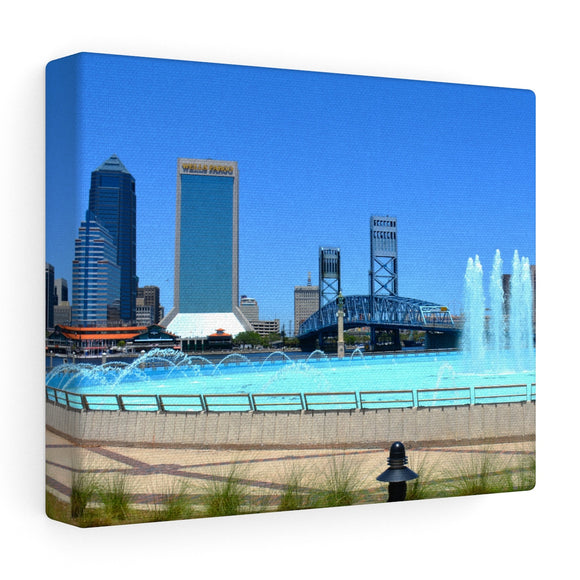 Friendship Fountain 8x10in Canvas Photo Print