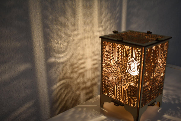 Shipibo Wood Table Lamp