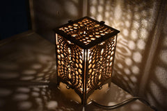 HEXAPLEX Wood Table Lamp