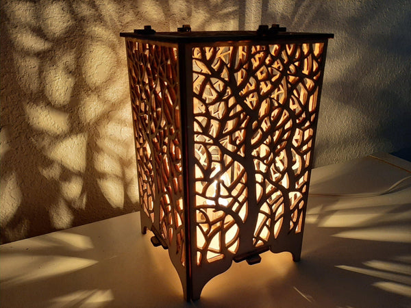 Tree Wood Table Lamp