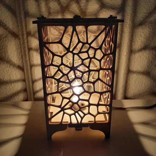 Voronoi Wood Table Lamp