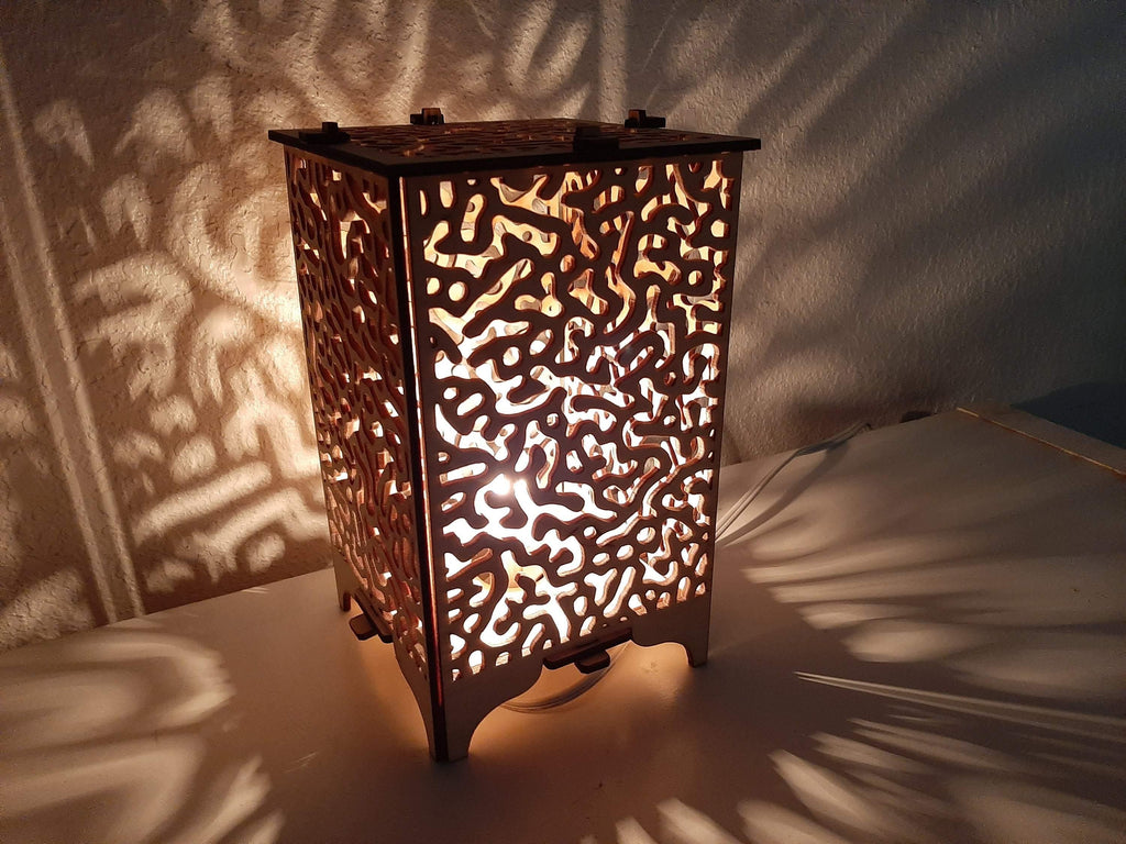 Turing Pattern Wood Table Lamp