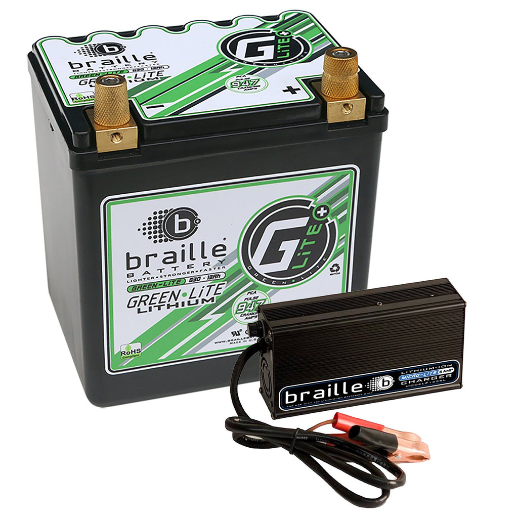 Braille - Green Lite G30C Lithium Battery (Inc. charger)