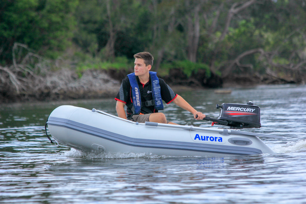 Aurora Inflatable Boat - Air Deck 240 Fully Welded Construction