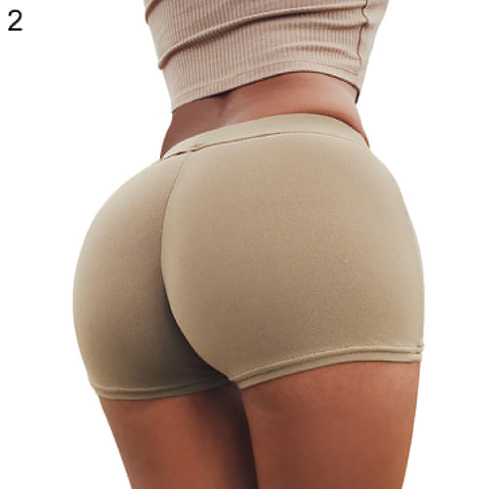 Women Sports Casual Beach Running Slim Shorts Summer Solid Color Hot Pants Gift