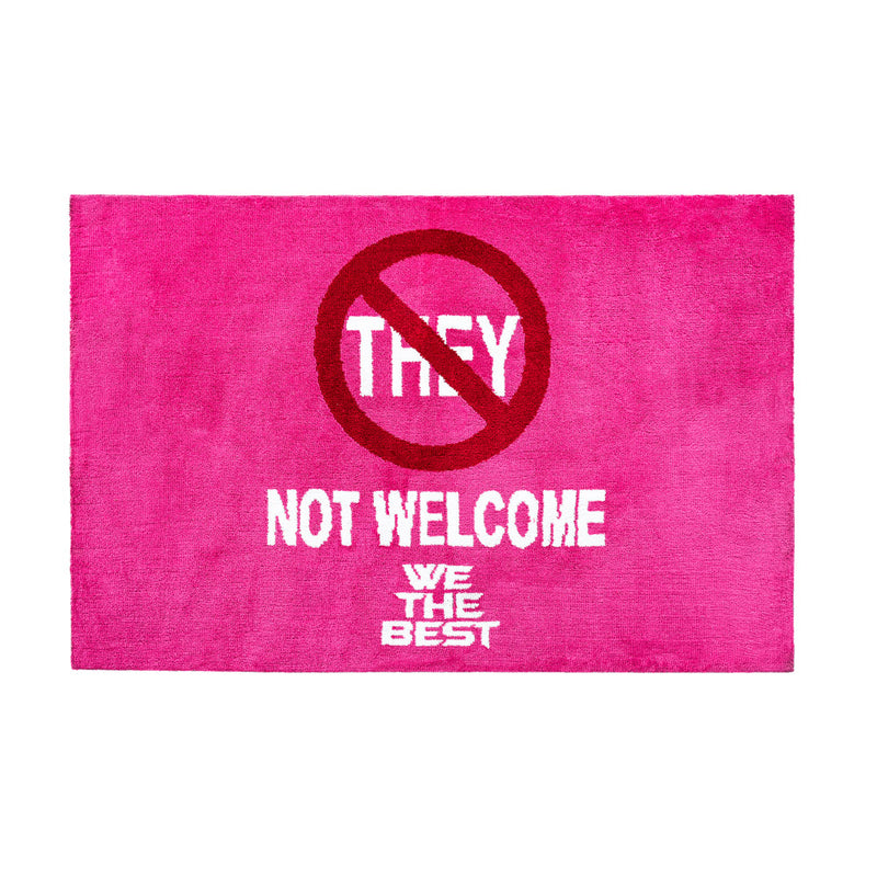 FRIENDLY REMINDER 'NO THEY' AREA RUG