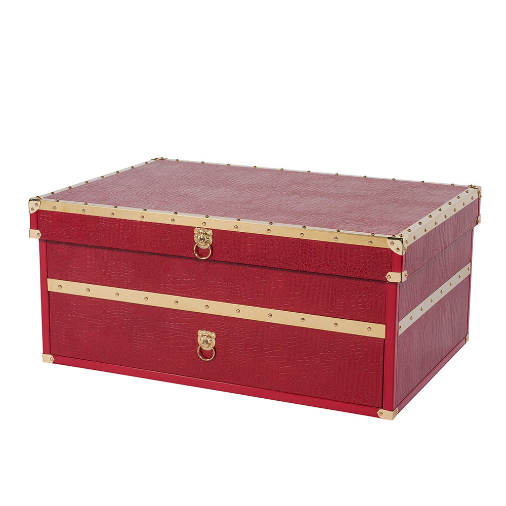 SOLE SURVIVOR CROCODILE SNEAKER CHEST - RED