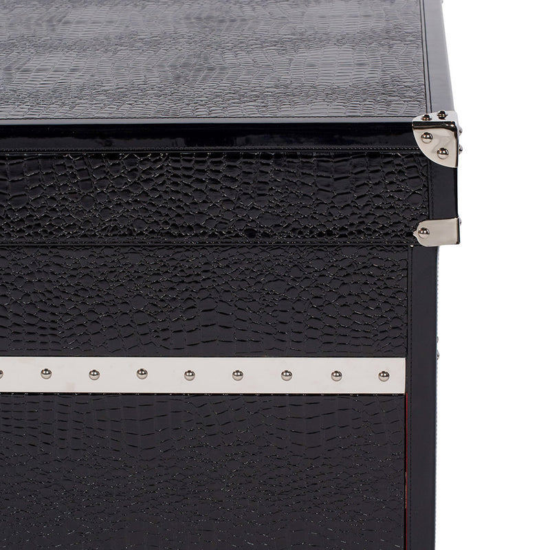 SOLE SURVIVOR CROCODILE SNEAKER CHEST - BLACK