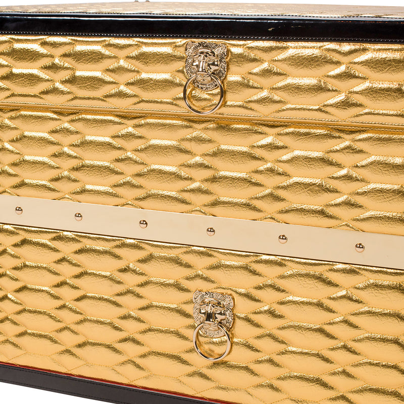 SOLE SURVIVOR CROCODILE SNEAKER CHEST - GOLD