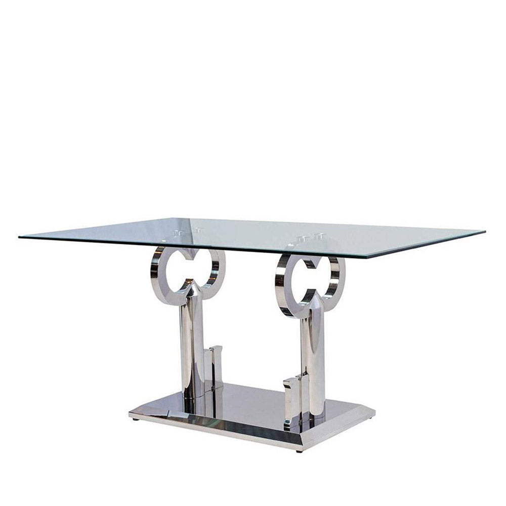 MAJOR KEY DINING TABLE - PLATINUM