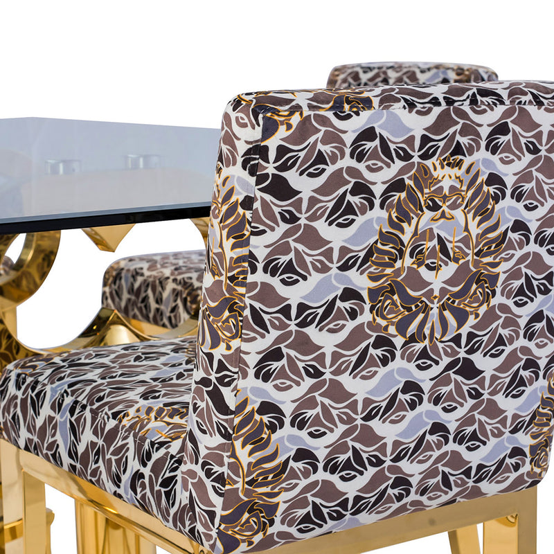MAJOR KEY CAMO VELVET BAR STOOL