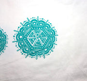 "Mandalas-Organic Cotton ""Infinity"" face covering"
