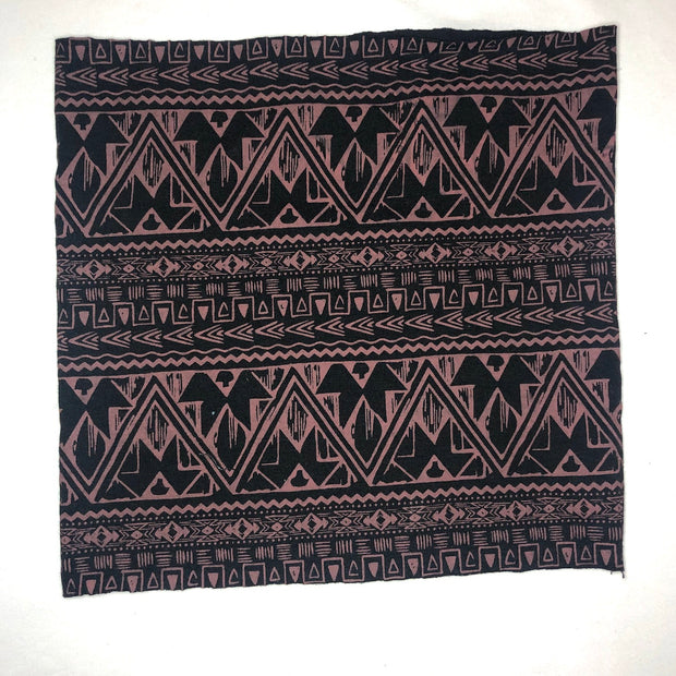 Tribal Print- Organic Cotton-Spandex Face Covering-