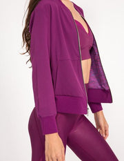 Alchemy Bomber Jacket - Dahlia/Mystic Purple (Reversible)