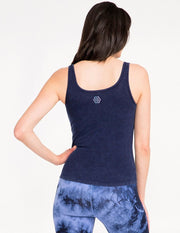 Bff Rib Tank Vintage Wash - Midnight - Tanks
