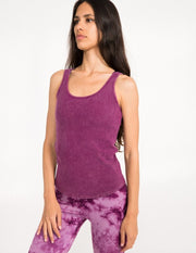 Bff Rib Tank Vintage Wash - Mystic Purple - Tanks