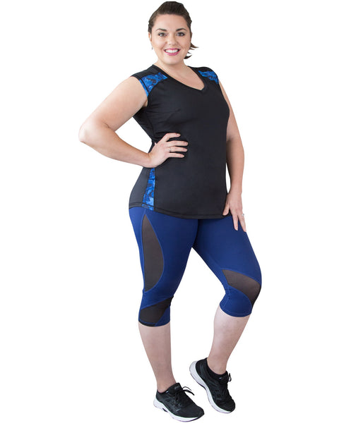 Simple and elegant Andi Sleeveless Sports Top | Curvy Chic Sports