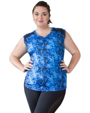 Verve Sleeveless Top in Blue