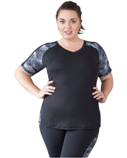 Bree Short Sleeve Sports Top Plus Plus Size | Curvy Chic Sports
