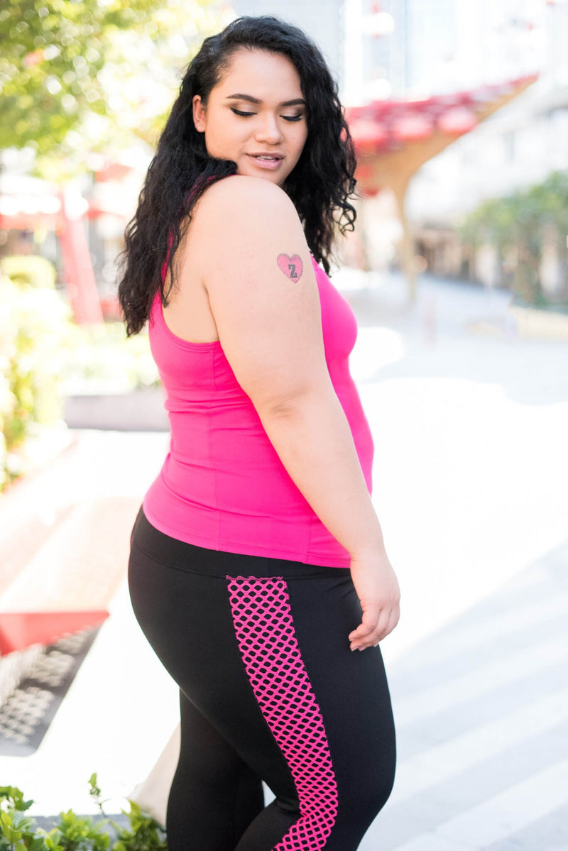 Nice Stems Leggings in Black & Pink