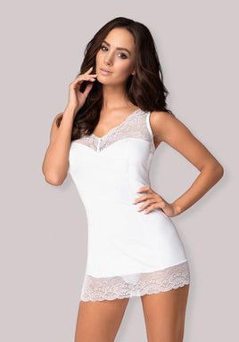 Miamor Chemise & Matching Thong (In White & Black)