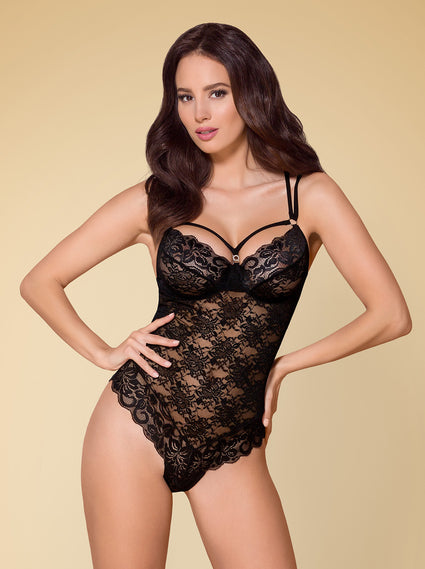 860-TED- Lace Teddy With Straps (In White, Black)