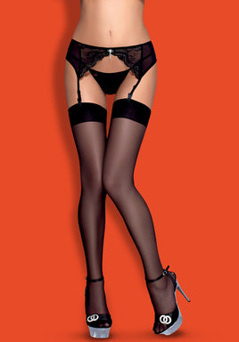 S800 - Premium Stockings (Black, Red, White, Ruby, Nude, Nude/White)