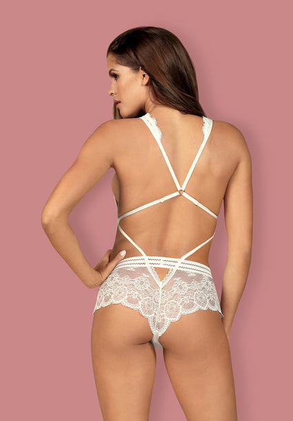 853-TED - Lacy, White Teddy