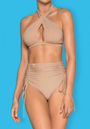 Hamptonella  - Beige High Waisted Bikini