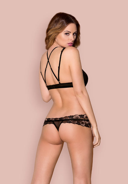 873 - SEA-1 - Tempting Lingerie Set With Detachable Straps