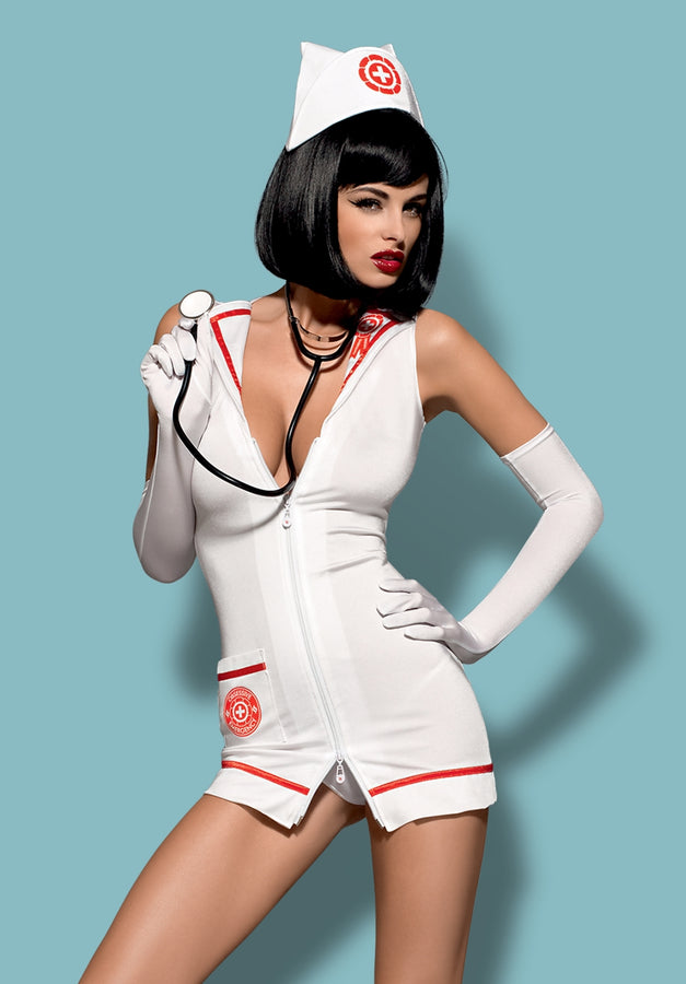 Sexy 5-Piece Nurse Costume With Real Stethoscope!